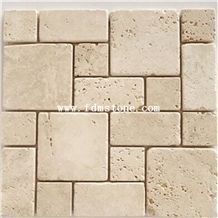 Tumbled Travertine French Pattern Flooring and Walling Tiles,Kitchen Design