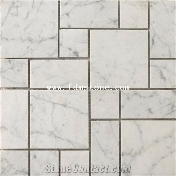 White Marble French Pattern Flooring