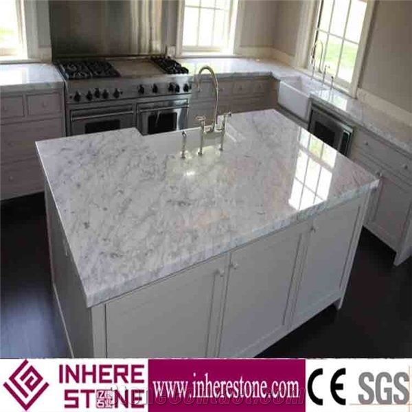Marble Kitchen Bench Top, Carrara White Countertop,White