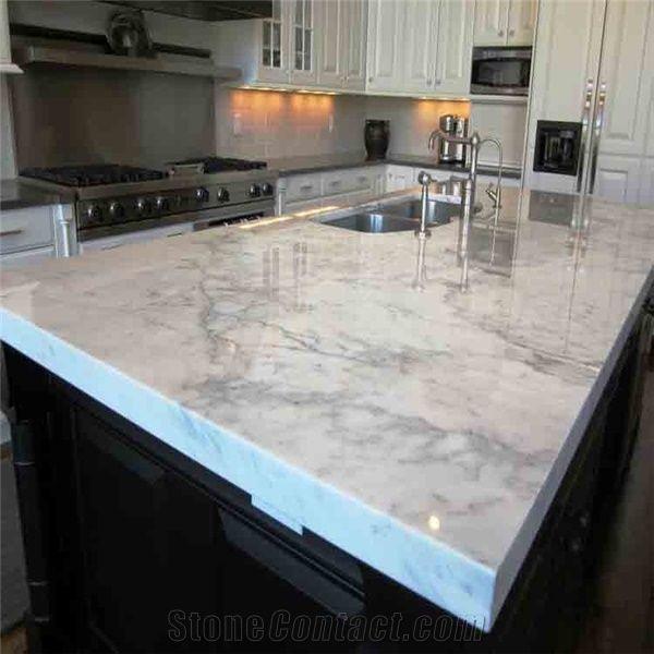White Kitchen Island Bar Top,Marble Kitchen Countertop ...
