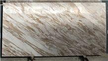 Volakas Venato Bronzetto Marble Slabs & Tiles, Greece White Marble