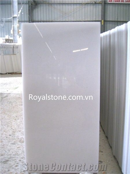 Polished Marble Slabs Tiles Vietnam Crystal White Marble