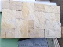 Yellow Nghe an Marble Split Face Wall Tiles