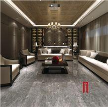 Grey Porcelain Tiles 60x60 for Livingroom Polished Surface Porcelain Floor