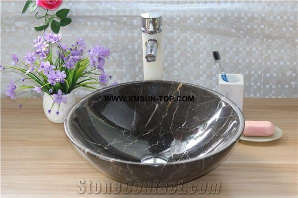 Black Nero Marquina Marble Kitchen Sinks Basins/Nero Marquina Marble ...