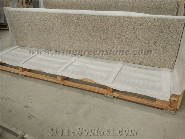 Popular Giallo Fantasia/G682/Desert Gold Granite Countertop,Vanity Top From  Winggreen Stone,Own Factory
