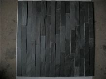 Natural Split Black Slate Cultured Stone / Z Shape (S Shape)Culture Stone Wall Panels,Ledge Stone,Feature Wall,Wall Cladding,Split Face Culture Culture Stone