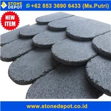 Bali Grey Basalt Roof Tiles Indonesia Basalt Tiles
