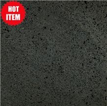 Indonesia Black Basalt with Hole / Basaltina / Basalto / Dark Basalt / Lava Black Basalt/ Tiles/ Walling/ Flooring/ Wall Tiles / Slabs / Covering / Lava Stone/ Lava Big Hole / Hole Basalt