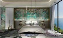 Popular Amazon Green Granite Tiles/Green Luxury Stone/Hot Sale & High Grade Granite Big Slabs/New Polished Granite/Good Price Granite Skirting/Granite Pattern