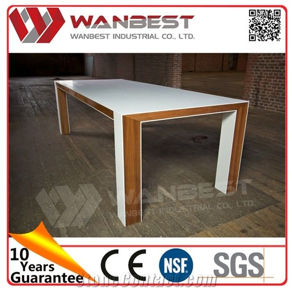 New Arrival Unique Artificial Marble Office Desk With Solid Wood Office  Table Top