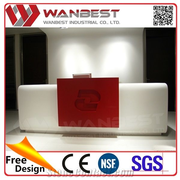 Office foyer designs Lobby New Office Foyer Designs White And Red Artificial Marble Solid Surface Reception Table Standing Receptionist Desk Neginegolestan New Office Foyer Designs White And Red Artificial Marble Solid