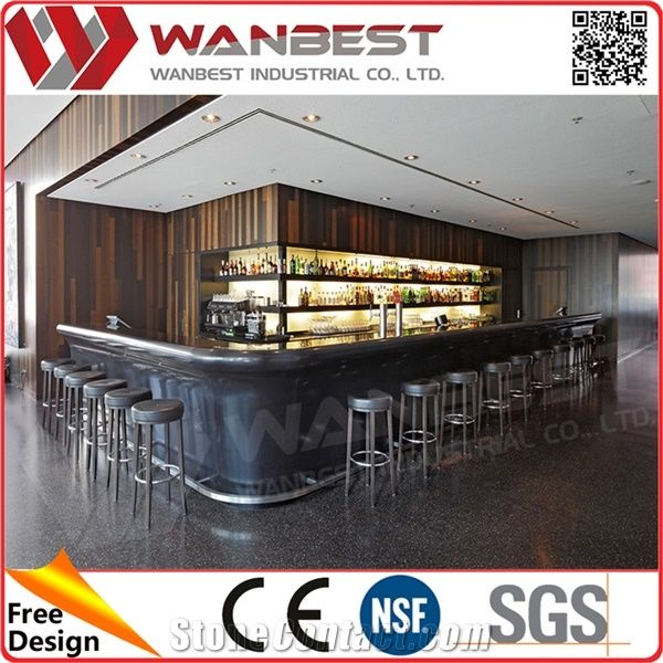 Charmant Used Home Bar Furniture Manmade Stone Tabletops Bar Counter Professional  Price
