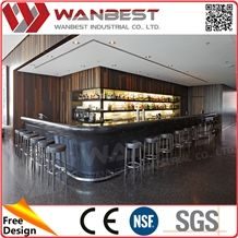Used Home Bar Furniture Manmade Stone Tabletops Bar Counter Professional  Price