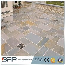 China Popular Cheap Rusty Brown Irregular Crazy Paving Random Flagstone for Walkway, Road, Flagstone Wall Road, Garden Pavers, Natural Building Stone Decoration, Quarry Owner
