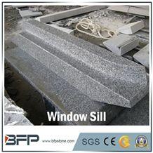 Grey Granite Window Sill, Panel, Sesame Black or China Grey Sardo, G654 or G602