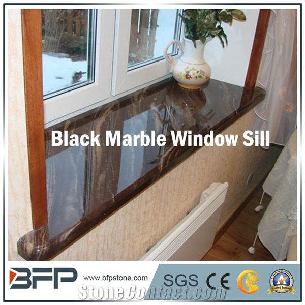 High End Black Marble Window Sill Galaxi Star