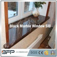 High End Black Marble Window Sill, Black Galaxi, Black Star,