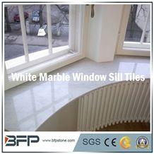 High End White Marble Window Sill, Volakas White, Bianco Carrara, for Interior Decoration