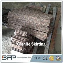 Red Granite Skirting Line, Luna Pearl Granite, Black Spots Brown Granite for Exterior & Interior Decoration