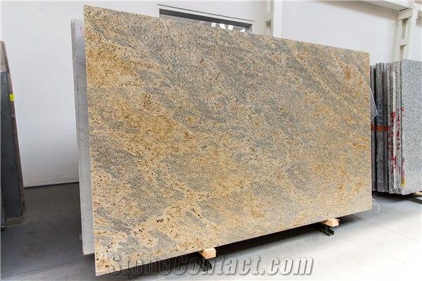 New Kashmir Gold Granite Slabs Polish