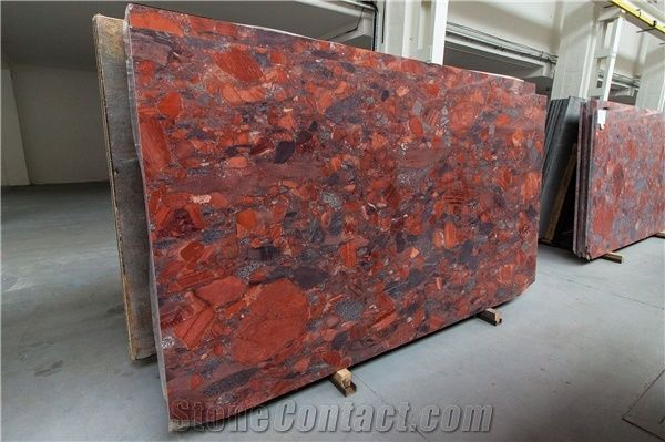 Rosso Marinace Granite Slabs Polish 2cm