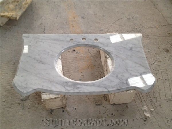 Bianco Carrara Marble Bathroom Countertops Custom Vanity Tops White Marble Bathroom Vanity Tops