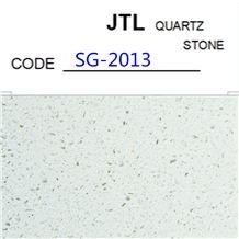 Popular Solid Surfaces Engineered White Colors Stone Big Quartz Slab Cut to Tiles Flooring