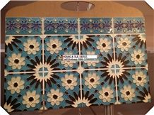 Hand Painted Kitchen Tile,Kitchen Wall Tile, Wall Murals,Islamic Pattern Tile