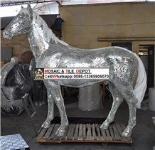 Horse Made by Mosaic, Art Horse Mosaic