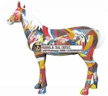 Mosaic Horse,Art Mosaic Horse,Decorative Horse