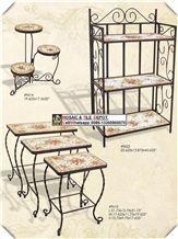 Mosaic Patio Furniture Set,Mosaic Chair,Mosaic Table,Medallion Chair