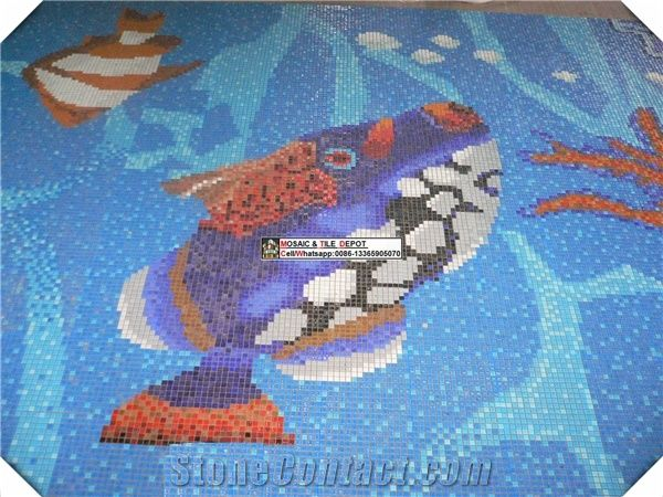 Swimming Pool Fish Design, Pool Mosaic Design from China ...