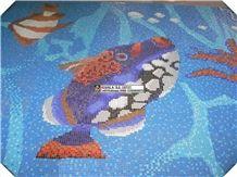 Swimming Pool Fish Design, Pool Mosaic Design