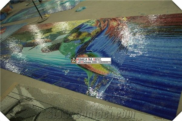 Swimming pool mosaic pattern design from china for Pool design pattern