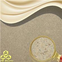Jw Beige Plain-Engineered Quartz Stone Slab for Countertop