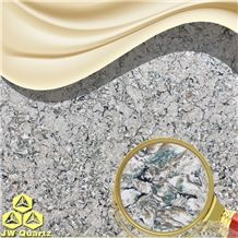 Jw Childhood-Green Color Mixed Artificial Quartz Stone Slab for Countertop