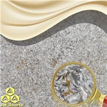 Jw Seabed-High End Engineered Quartz Stone Slab for Countertop Amd Bar Top