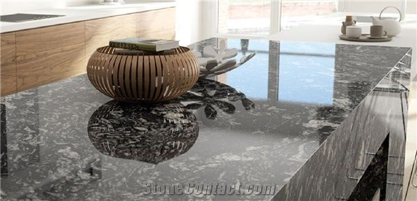 Black Forest Granite Kitchen Island Countertop From India