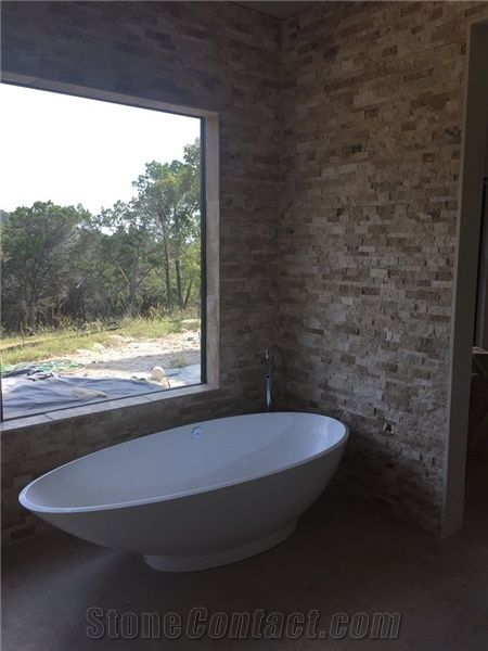 Split Face Natural Stone Feature Bathroom Wall From United