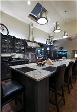 Kitchen Center Island with Granite Counter Top