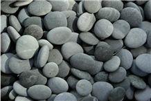 Black Pebble Stone, Natural