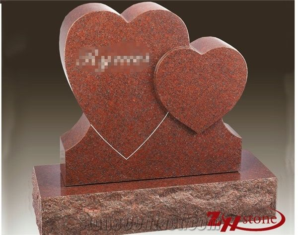 Good Quality Polished Double Heart Design Indian Red