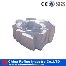 Grey Granite Exterior Sculpture Stone Products, Designs