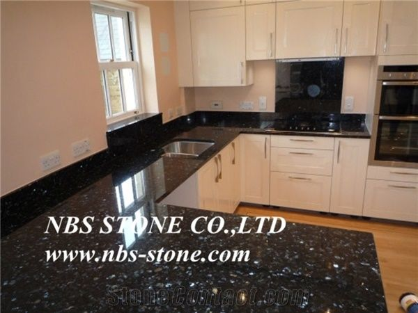 Black Pearl Granite And White Cabinets,Kitchen Tops,Countertops,Tilesu0026  Slabs,Wall Covering,Flooring