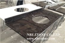 Brown Granite Countertop, Bathroom Vanity Tops