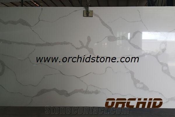 Carrara White Bianca Engineered Stone Quartz Flooring Tile