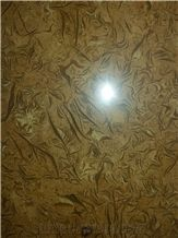 Yellow Fossil Marble Slabs & Tiles, Afghanistan Yellow Marble