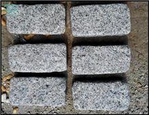China Silver Grey Granite G601 Split Tumbled Cobbles, Fujian Grey Granite Cube Stone Pavement, Fine White Flower Granite Pavings, Pretty Gray Granite Paver, Chinese Gold Star Granite