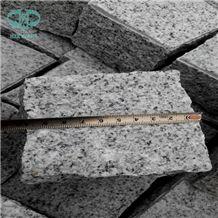 Grey China Silver Grey Granite G601 Split Tumbled Cobbles, Fujian Grey Granite Cube Stone Pavement, Fine White Flower Granite Pavings, Pretty Gray Granite Paver, Chinese Gold Star Granite